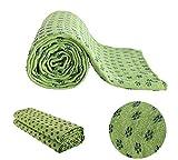 MAXYOGA Asciugamano da Fare Yoga - Yoga Mat Towel - Antiscivolo con Punti di Impugnatura in Gomma. 61 cm x 183 cm. Ideale per Hot Yoga. (Verde)