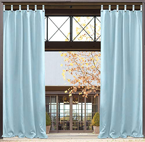 z-Vorhang für den Außenbereich, 127 x 213,4 cm, für Veranda, Terrasse, UV-geschützt, wasserfest, einfach aufzuhängen, Keine Gardinenstange zu entfernen ()