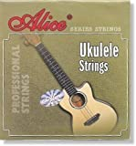 Alice UKULELE STRINGS AU04 standard uke string set - full set 4 clear nylon strings