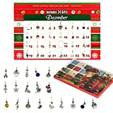 The Twiddlers Advent Calendar - with 22 Assorted Charms & Bracelet - Perfect for kids jewellery gift for Christmas Fun Countdown - A box of Charm a Day