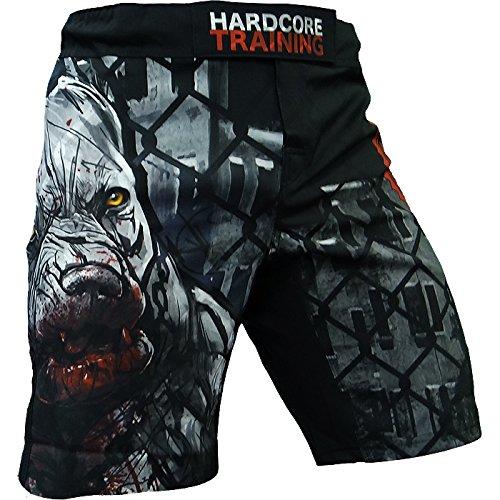 Hardcore Training Shorts Pitbull City - Men - MMA UFC Cage Fight Grappling-XL Kampfsport Boxen Kurze Sport