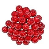 WXZQNN 50pcs Mini Perle étamine en Plastique Fleur Artificielle étamines de Cerisier de Mariage couronnes de Noël Cadeau de Bricolage décoration