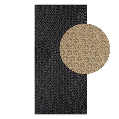 Langlauf Schuhbedarf Sohlengummiplatte 250mm x 500mm 6mm stark Profil Star in verschiedenen Farben zur Anfertigung von Schuhsohlen oder als Anti Rutsch Belag - 6 mm Stärke (beige)