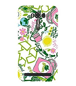 Fuson Designer Back Case Cover for Asus Zenfone 2 Laser ZE550KL (5.5 Inches) (Recycle Save Energy Reduce plant Greenery)