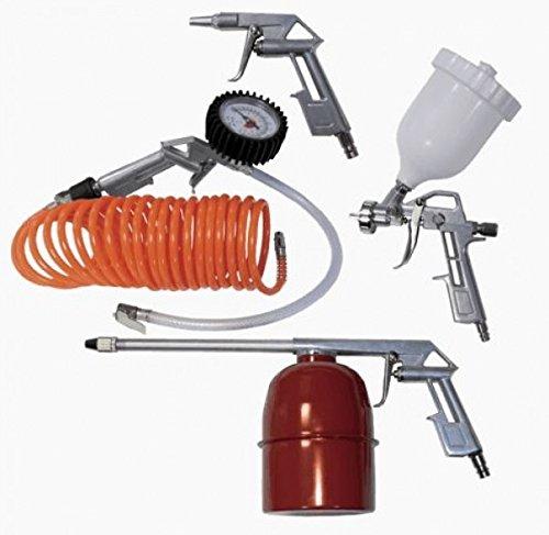 Scheppach Accessoires pour compresseur 5pièces Tuyau spirale d'Impression de Peinture spray et pistolet de pression de l'air, 3906101704