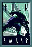 Marvel Comics PP33504 Marvel Deco (Hulk) Maxi Poster, Bois Dense, Multicolore, 61 x 91,5 cm