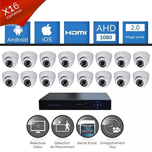 Kit-videovigilancia-16-Cmaras-Pro-Full-AHD-1080P-Sony-2-MP--incluye-4000-GB-16-cable-de-20-m-incluye-pantalla-22
