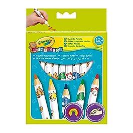 Crayola 3678, Mini Kids – Matitoni decorati, Età 12 Mesi, per Asilo e Tempo Libero, Colori Assortiti, 8 Pezzi