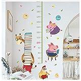 LY-LD Kinder Height Chart Kids Wandaufkleber Wandaufkleber Peel und Stick Removable Wall Sticker für Kinder Kinderzimmer Schlafzimmer Wohnzimmer