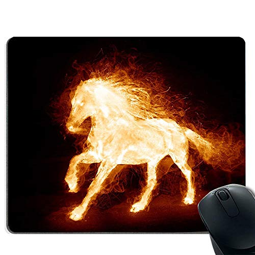 Flammenbildung Pferdequalität dickes Gummi Mauspad Kissen Komfortgefühl komplett -