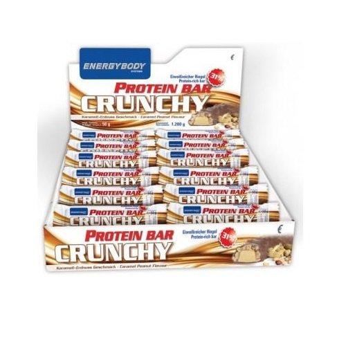 Energybody Protein Bar Crunchy 24 x 50g Riegel Karamell-Erdnuss (Bar-erdnuss-karamell)