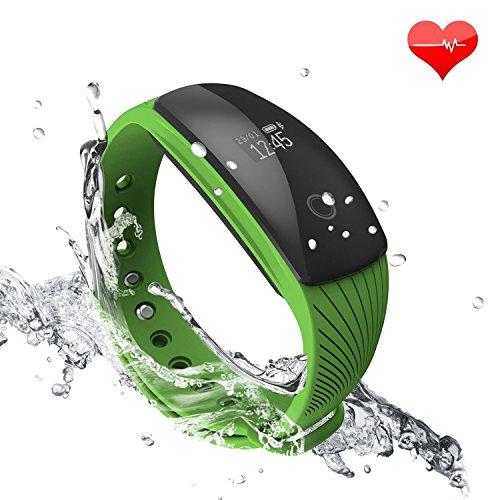 RIVERSONG ® Bracciale Fitness, Resistente all'acqua Braccialetto Orologio Fitness Cardiofrequenzimetro