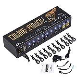 Asmuse 9v Netzteil Pedal Power Supply Daisy Chain effektpedal Adapter Rechtwinkliges Splitter Kabel Blei Chord für Gitarre Bass-Effekt Keyboards