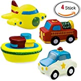 VALUE MAKERS Badespielzeug Geschenkset Wasserspielzeug Badewannenspielzeug Water Fun Set in Tasche