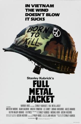 Full Metal Jacket Film Poster - 61 x 91 cm, 24inx36in