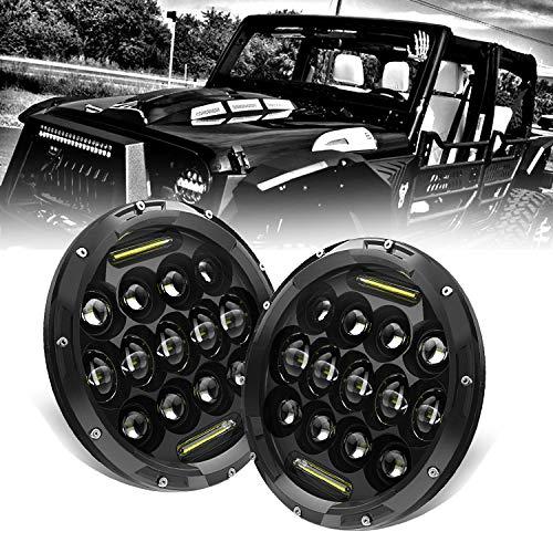 KEENAXIS 17,8 cm Rotondo Nero Hi/Lo Fascio Faro LED Anteriore con luci diurne (DRL) Jeep Wrangler CJ-5 CJ-7 1997 - 2017 TJ LJ JK JKU Rubicon Sahara Humm