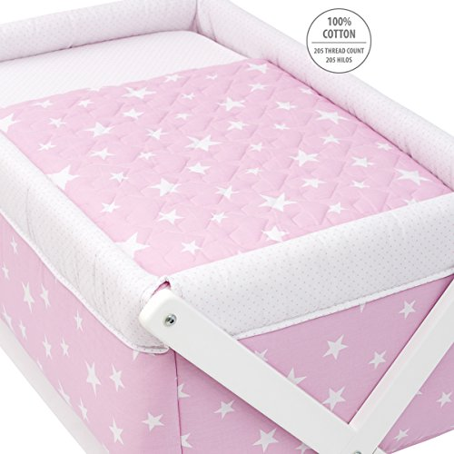 Cambrass Be Universe Small Bed X Wood, 55 x 87 x 74 cm, Une Pink