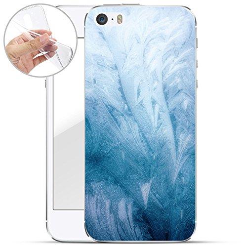 finoo | iPhone 7 Weiche flexible Silikon-Handy-Hülle | Transparente TPU Cover Schale mit Motiv | Tasche Case Etui mit Ultra Slim Rundum-schutz | Elefanten Marsch Frost Textur