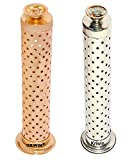 #5: Kriwin Combo of Safety Agarbatti Stand with Dhoop holder on Top Gold Plated & Silver Plated 26 x 7.6 x 5.2 cm