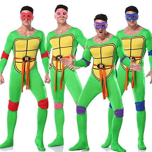 Kostüm Ninja Rosa Baby - ZSDFGH Ninja Turtles Kostim Frau/Ninja Turtles Kostüm/Fasching Overall,Purple-XL