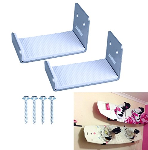 Unho®2 Stück Surfbrett Wandhalterung aus Aluminium Surfboard Wand Display Rack für Snowboard / Surfbrett / Wakeboard / Kiteboard / Longboard / Skateboard / Wakeskate / skimboard Wandhaken