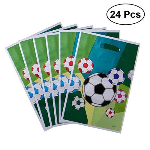 TOYMYTOY 24pcs Papiertüten Fußball Thema Behandeln Papiertüten Party Favor Taschen Partytüten für Kinder-Geburtstags-Party