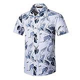 JiaMeng Männer Frauen Mode Strand Stil Druck Baumwolle Kurzarm T-Shirt Tops