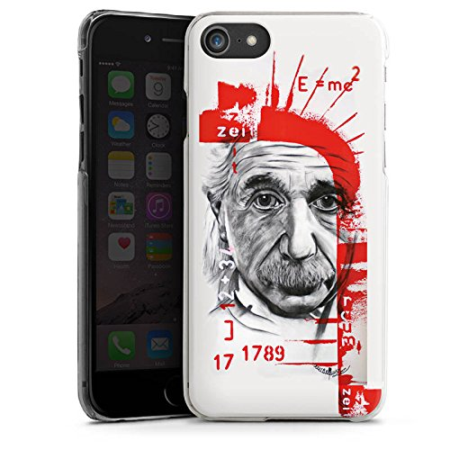 Apple iPhone X Silikon Hülle Case Schutzhülle Albert Einstein Zeichnung Art Hard Case transparent