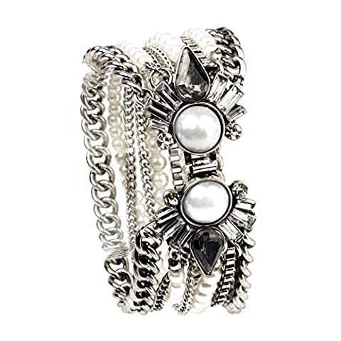 Ladies Beautiful Black Pearl Bracelet Spring Summer Fashion Charm Bracelets