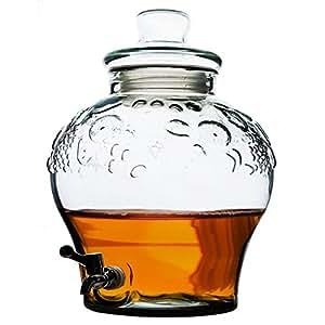 hochwertiger getr nkespender aus glas 10 liter mit zapfhahn und deckel k che haushalt. Black Bedroom Furniture Sets. Home Design Ideas