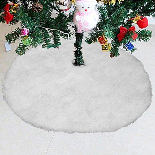 Konsait base de árbol de Navidad falda 31.5 pulgadas de diámetro forma redonda nieve blanca faldas para el árbol navidad para año nuevo vacaciones decoración árboles de Navidad ornamentos