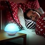 Intey LED Nachtlampe Baby mit Farbwechsel Stimmungslicht, Rosa