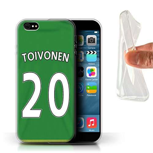 Offiziell Sunderland AFC Hülle / Gel TPU Case für Apple iPhone 6+/Plus 5.5 / Mannone Muster / SAFC Trikot Away 15/16 Kollektion Toivonen