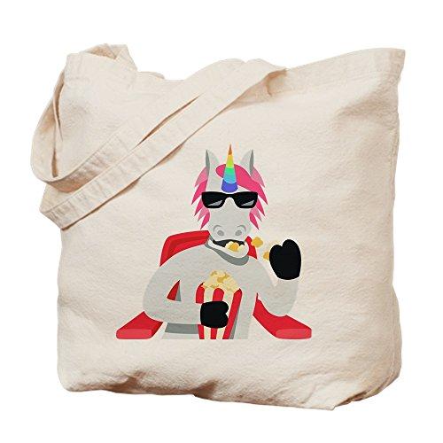 CafePress Emoji Einhorn Essen Popcorn Tasche, canvas, khaki, S