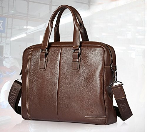 Preisvergleich Produktbild HTB Art und Weise Männer 'S Handtaschen-Computer-Beutel-Männer' S Handtaschen-Großer Kapazitäts-Geschäfts-Aktenkoffer,Braun,13 Zoll