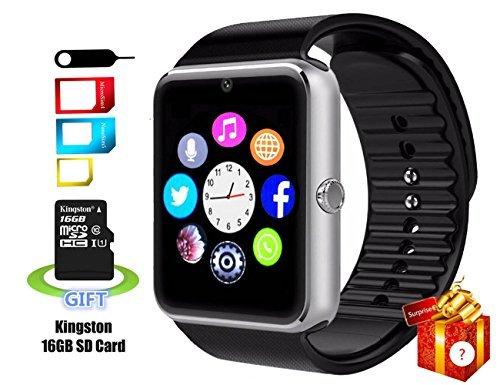 Smartlife a prueba de sudor bluetooth Smart reloj teléfono YG8con 16GB tarjeta SD y ranura para tarjetas SIM para Android Samsung S5S6Nota 45HTC Sony LG y iPhone 55S 66Plus Smartphones
