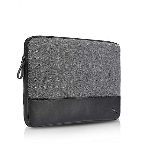 Herringbone Wollen & Heather Water-Resistant Laptop Sleeve Case Carrying Bag