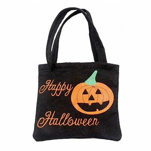 n-Handgemachte Vliesstoff-Beutel-Geist-Festival-Kind-Geschenk-Süßigkeit-Beutel Halloween-Stützen-Tasche (2#) (Geist Halloween Sales)