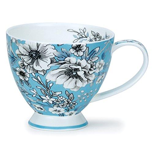 DUNOON Fine Bone China Skye Tasse-Made in England - Umbria Blue Blue Fine Bone China
