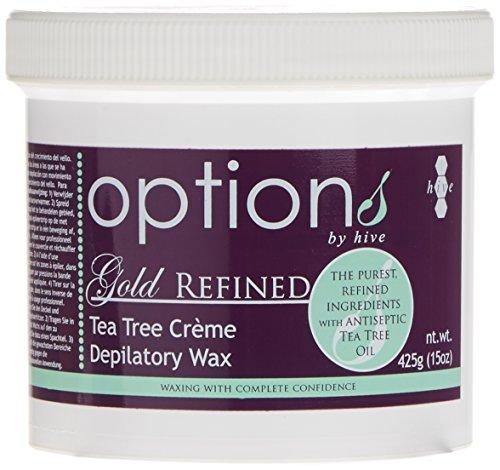 Hive 425g Options Gold Refined Tea Tree Cream Depilatory Wax -