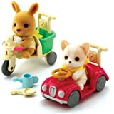 Sylvanian Families Baby Car and Tricycle Ride Ons