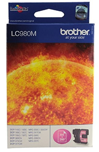 Brother LC-980M Cartouche d'encre d'origine 1 x rouge 260 pages