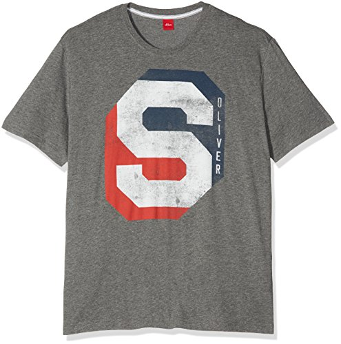 s.Oliver Big Size Herren T-Shirt 15708328795, Grau (Blend Grey 9730), XXX-Large