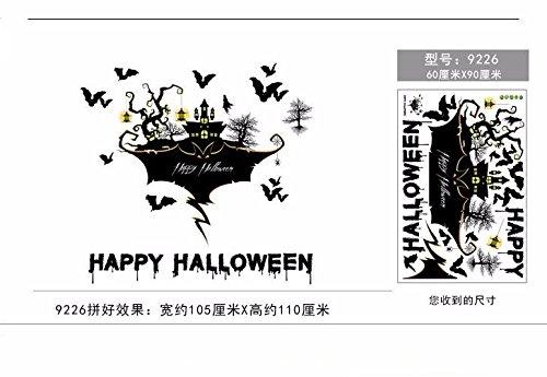 r Wand Aufkleber Glas Aufkleber Bars Dekoration Thema Fenster KTV Programm Layout Requisiten Aufkleber 105 * 110 cm. (Halloween-horror-thema)