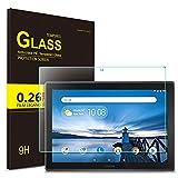 IVSO Protection écran pour Lenovo Tab E10, Haute-réponse, Haute Transparence Protecteur d'Ecran en Verre Trempé Vitre Tempered pour Lenovo Tab E10 10 Pouces 2018 (1 Pack)