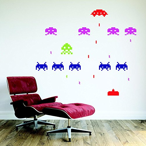 vc-designs-tm-full-colour-retro-space-invaders-game-fun-games-room-childrens-bedroom-playroom-lounge
