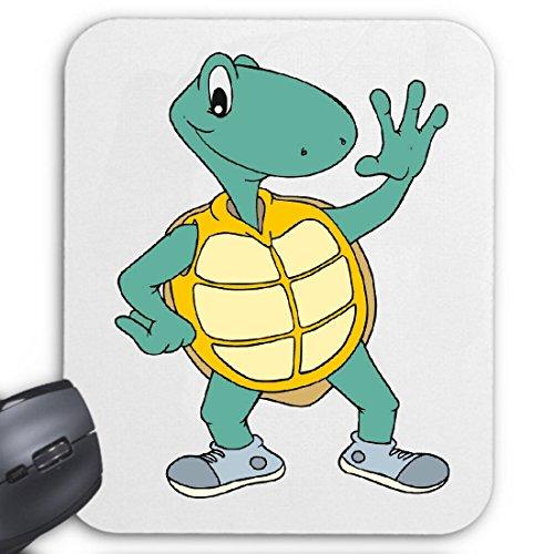 Mousepad (Mauspad) Schildkröte als Läufer Cartoon Zeichentrick Spass Film Serie DVD für ihren Laptop, Notebook oder Internet PC (mit Windows Linux usw.)