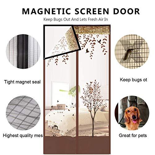LE Anti-Moskito-Vorhang Mit Klettverschluss, Französisches Doppel-DOO-Insektenschutzgitter Für Schwere Beanspruchung A 95x200cm(37x79inch) -