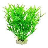 SODIAL(R)5.5' Aquarium Plastik Landschaftsbau Wasserpflanze - Gruen