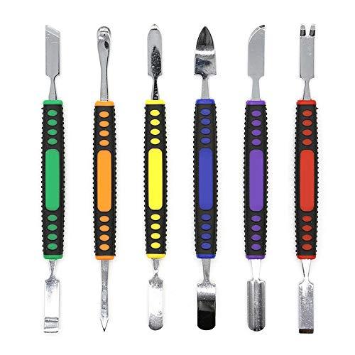 6 Stück Dual Ends Metall Se Hand Tool Sets Prying Opening Repair Tool Kit für Armbanduhr MP3 Laptop Tablet Handy -